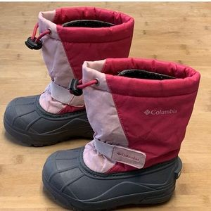 Girl's 10 COLUMBIA POWDERBUG Pink Winter Boots